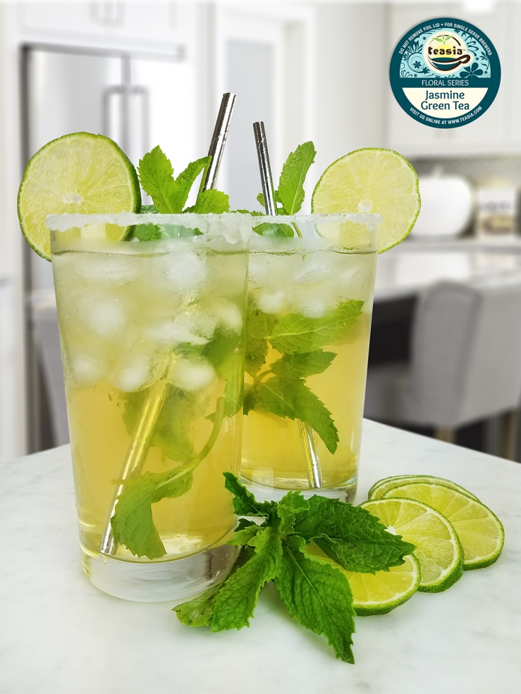 Iced Jasmine Green Tea Mojito
